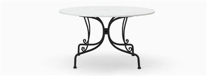 Boscombe 130 Round Table - Black & Marble