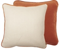 Camilla Cushion 45x45cm, Hugo Pale Oat & Isla Fox