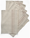 Ayla Stripe Placemat - Set of 6 - Apricot