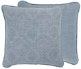 Camilla Cushion 45x45cm, Mabel Flax Blue & Harry Flax Blue