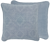 Camilla coussin, Mabel Flax Blue et Harry Flax Blue