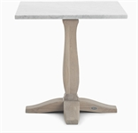Harrogate 4 Seater Square Table, Marble & Seasoned Oak