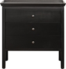 Aldwych 2 Drawer Chest, Warm Black