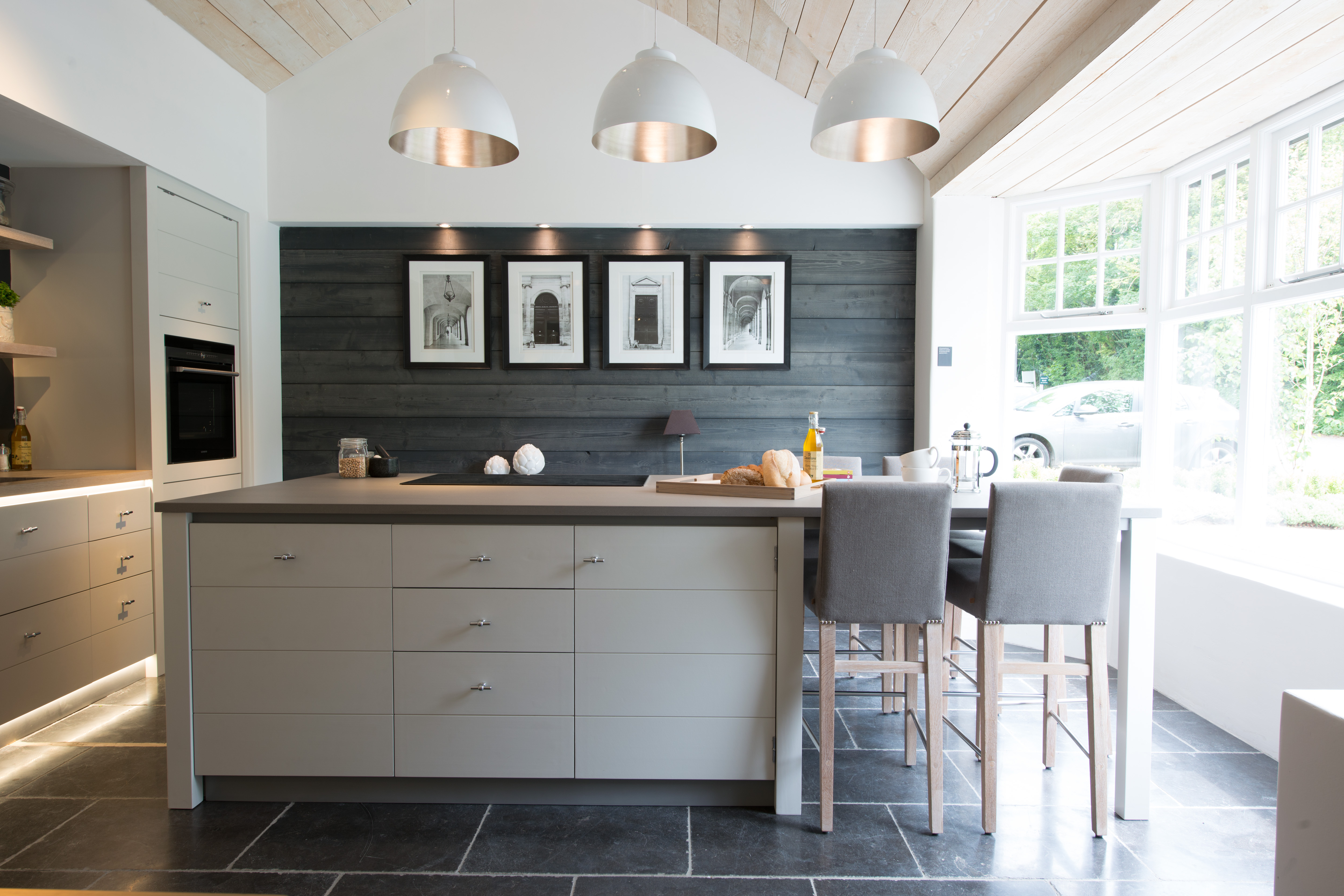 Kitchen Tiles Limerick neptune buxton limestone flooring tile 60x40cm - river grey