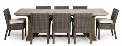 Hove Rectangular 6 Seater & Toulston Chairs Set