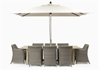 Stanway Teak 8 Seater & Stanway Carver set with Parasol