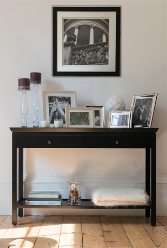 Console Tables With Picture Frames ~ Neptune aldwych console table large warm black living