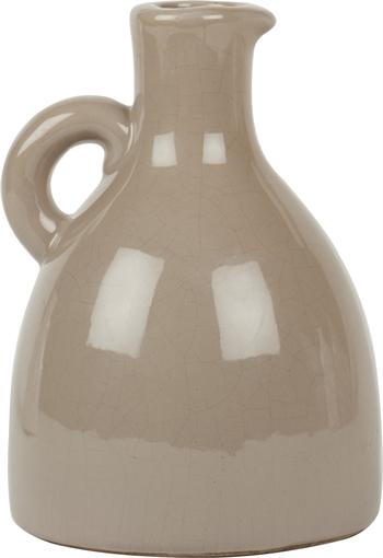 Neptune Jug With Handle Medium White Ceramic