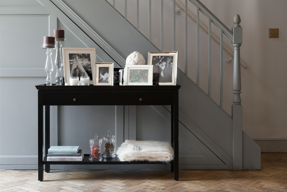 Neptune Aldwych Console Table Large Warm Black Living