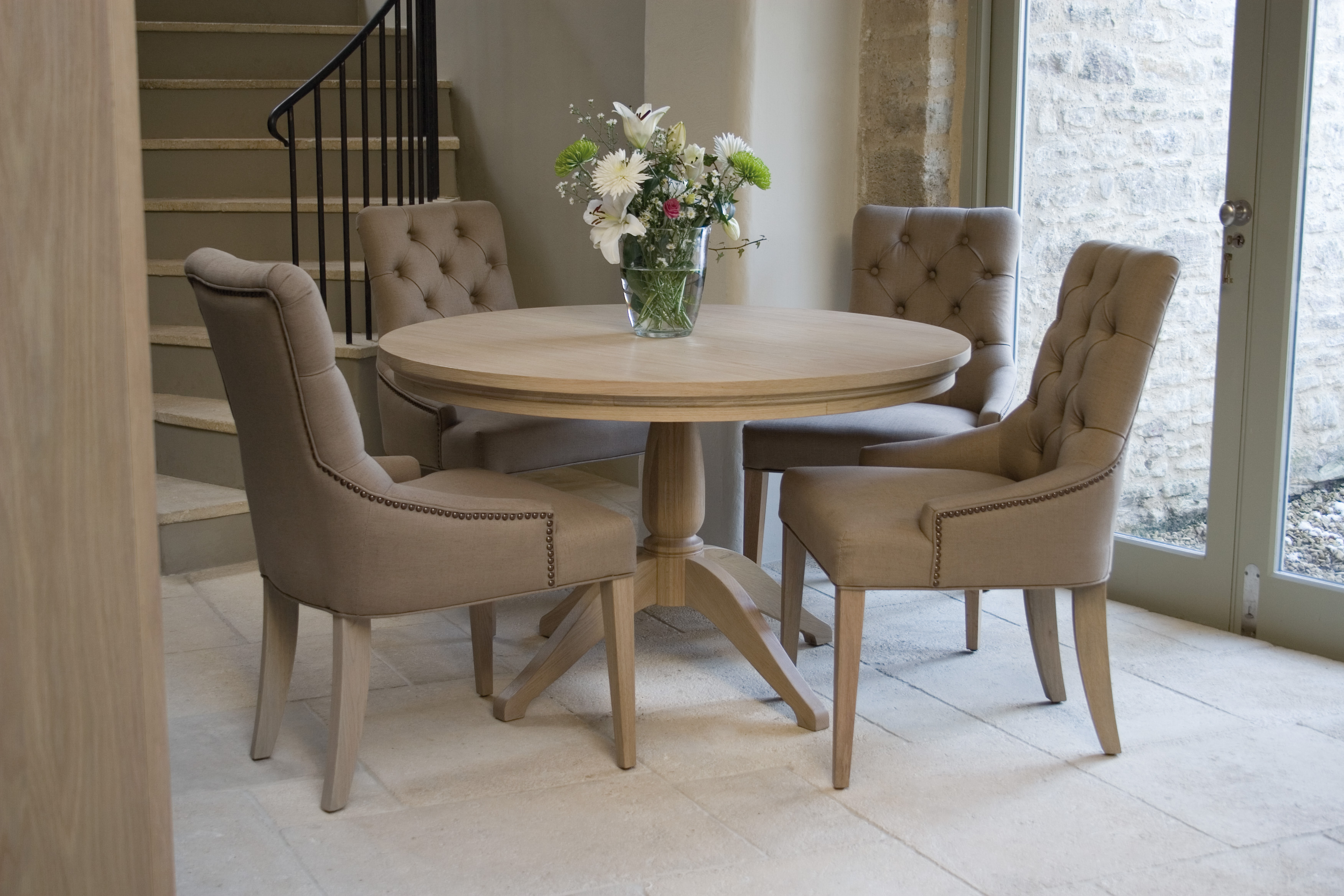 Neptune Henley Round Dining Table Dining Room Furniture
