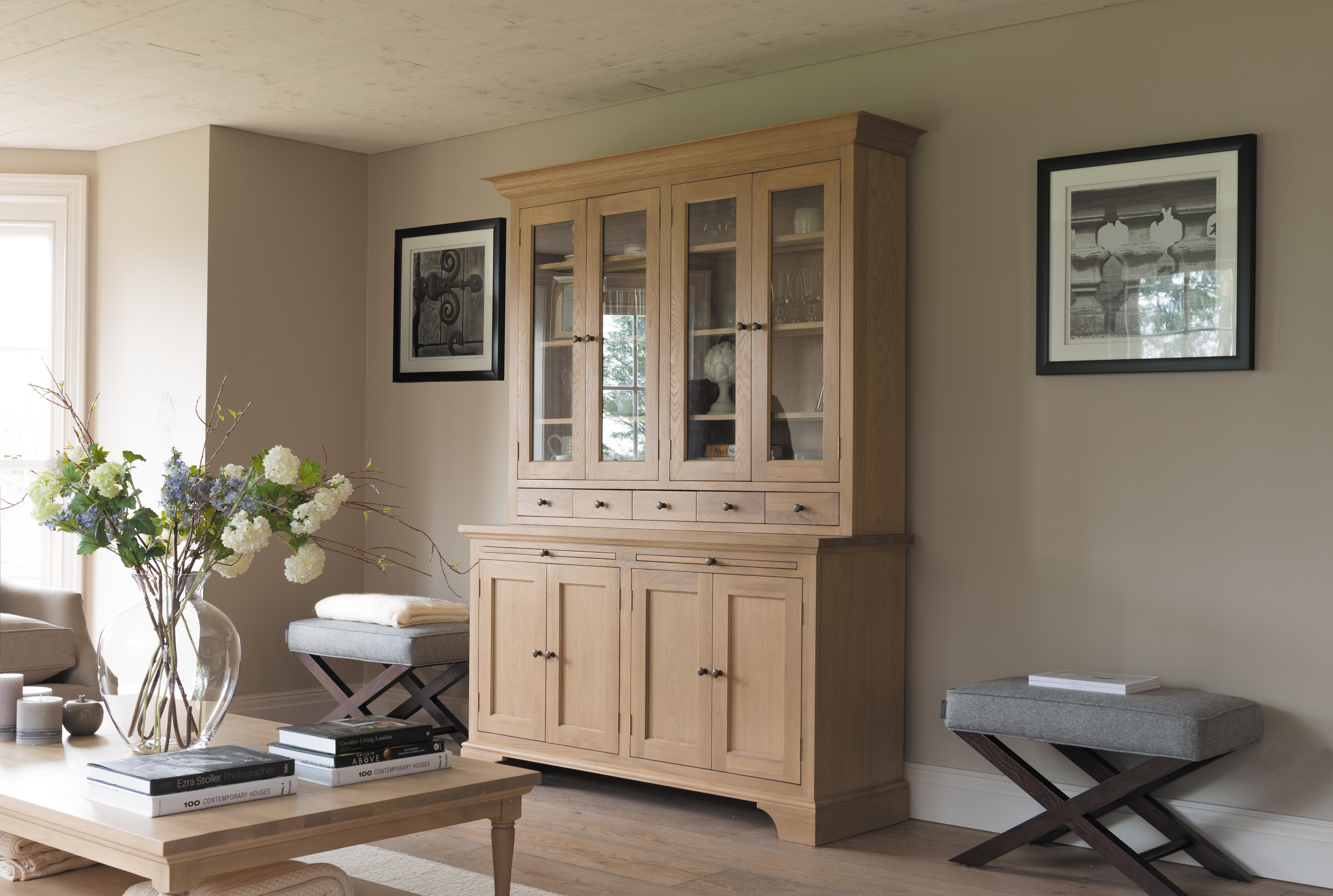 neptune henley 5ft glazed oak dresser dining furniture handcrafted kitchen bespoke kitchens neptune kitchen